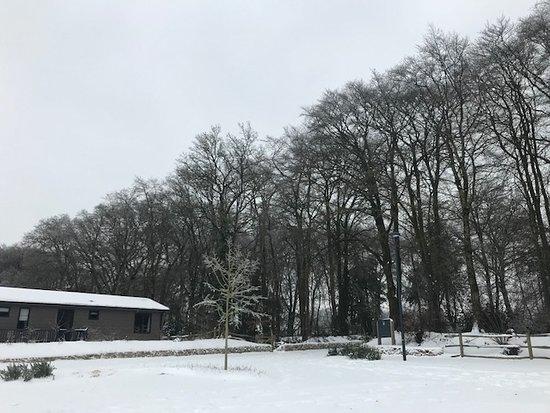 Hawkchurch, UK: Main carpark