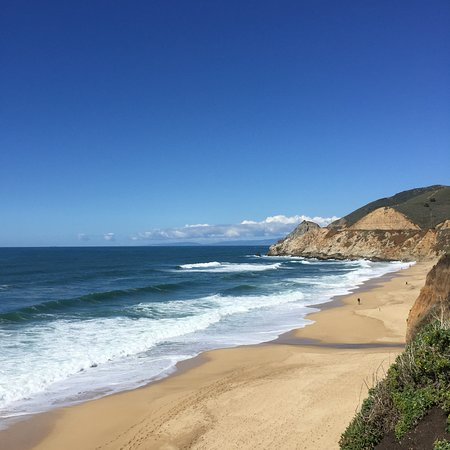 The view from the cliff above Montara State Beach