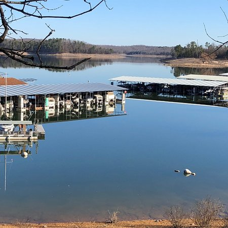 Jordan Marina is two miles east of Norfork Dam, and is the only marina in the Big Creek arm of N