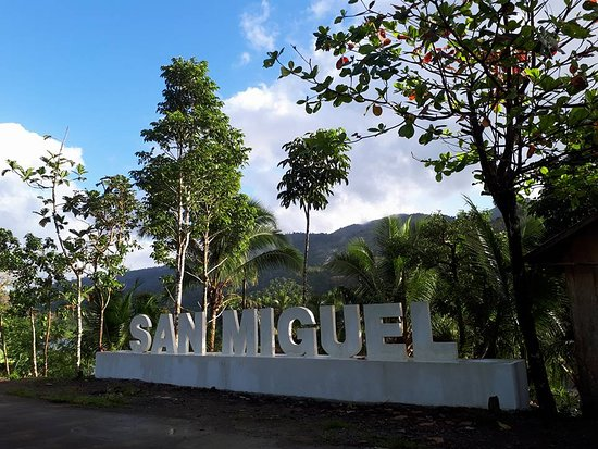 This is the 3D sign of San Miguel River Park located on the Jump Off Station at Bgy. Kilikilihan