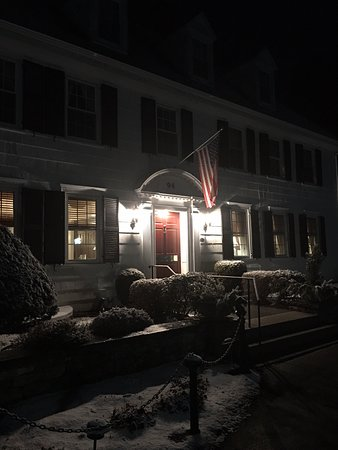 Woodstock, CT: Front door at night