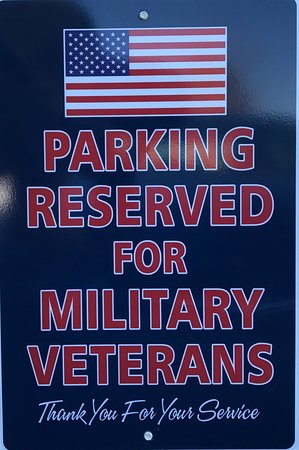 Shenandoah, VA: Close parking reserved for our Veterans, We support YOU!