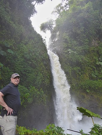 Pura Vida Hotel: La Paz Waterfall from the road