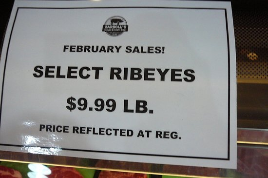 Ashburn, Gürcistan: Ribeye steak February sale