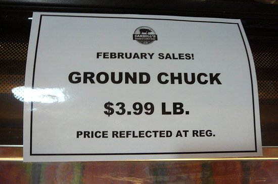 Ashburn, GA: Ground Chuck February sale