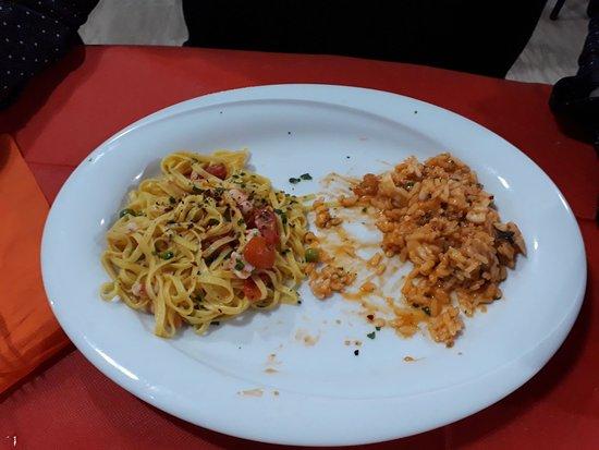 Bagnara di Romagna, Italia: risotto e tagliolini con pesce
