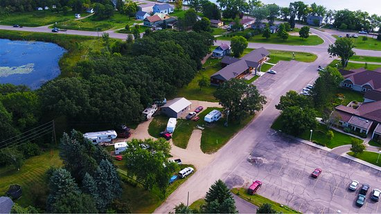 Battle Lake, MN: Aerial photo of the RV Park.
