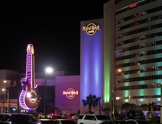 Biloxi Beach Night Hard Rock Casino On Beach Picture Of