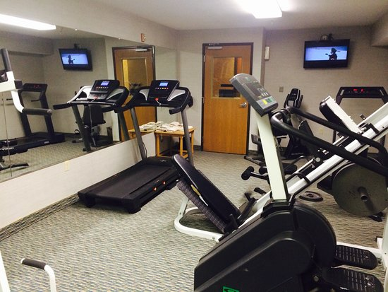 Kalkaska, MI: Our fitness center designed for the active traveler, outside we offer hundreds of miles of trail