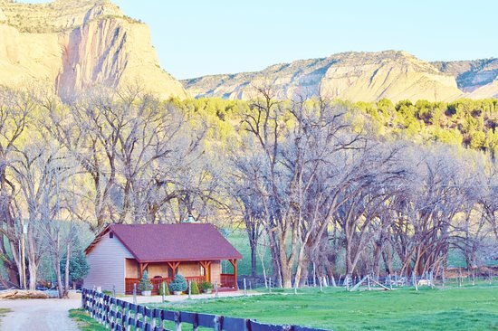 Mount Carmel, UT: Cottonwood Cabin in the fall. Check out those White Cliffs!  Wow