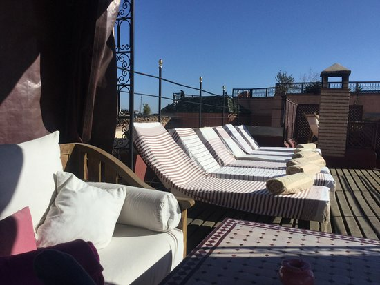 Riad El Zohar: On the terrace