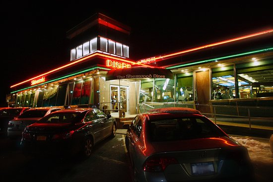 Lawrence, NY: Exterior of The Sherwood Diner