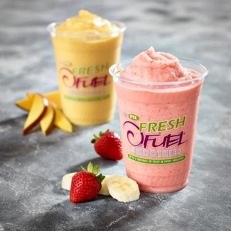 Νέα Γλασκώβη, Καναδάς: Cool and refreshing..real fruit smoothies.