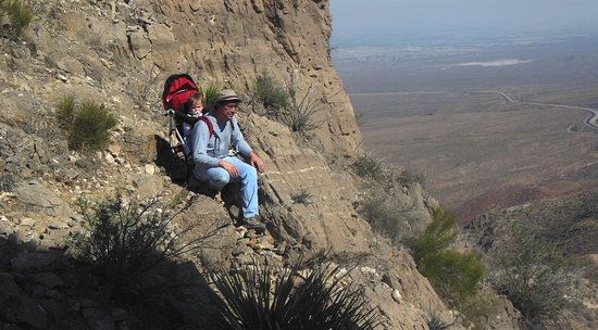 Franklin Mountains State Park: This is a view toward the north from the base of Mammoth Peak.