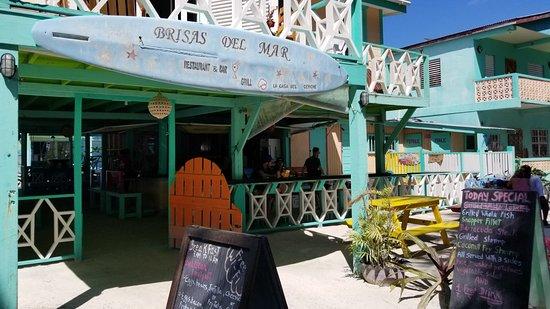 Exterior Back Of Restaurant Picture Of Brisas Del Mar Caye