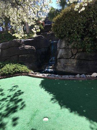 Waterfall near green - Picture of Gilligan\'s Island Funland, Garden ...