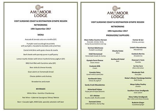 Amamoor, Australia: Canape menu