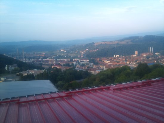 Resita, Romania: The view of the city from one of the rooms