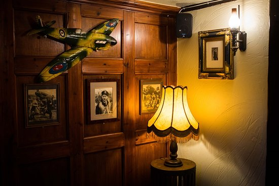 Denton, UK: The themed Spitfire Room