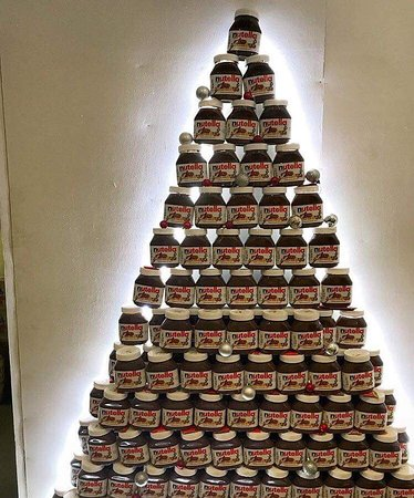 Nutella Christmas Tree.Nutella Christmas Tree Who Dream That Picture Of Gusto