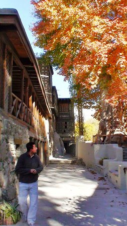 This is the photo taken in October and it is the outside of the Shigar fort residence