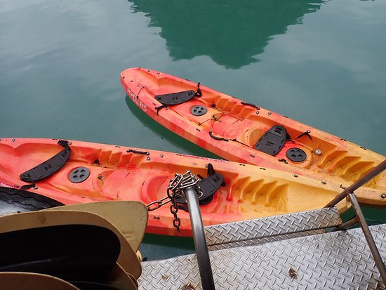 Starlight Cruise Halong Bay - Day Tour: Kayaks are the sit on type