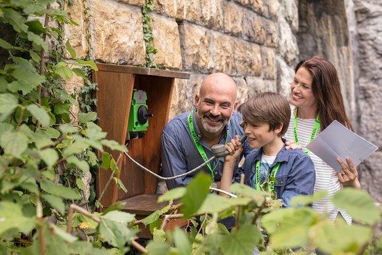 Delemont, Switzerland: Buschtelefon...versteckte Botschaft neben demTunnel auf dem Foxtrail Jura