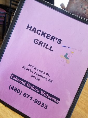 MENU - Picture of Hackers Grill, Apache Junction - TripAdvisor