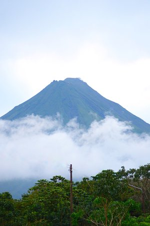 Playa Grande, Costa Rica: Volcano Viwes from  our Fortuna Tours