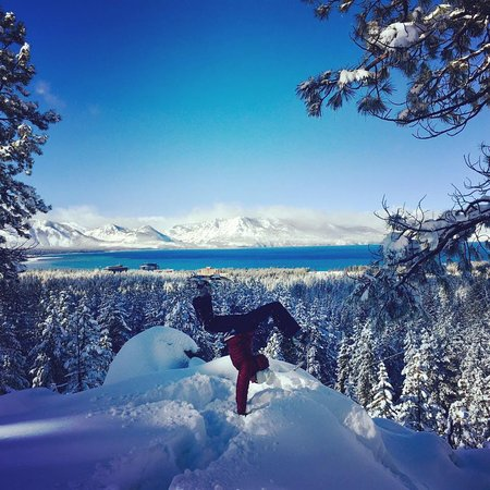 Still Water Yoga Lake Tahoe: Winter Wonderland Handstands