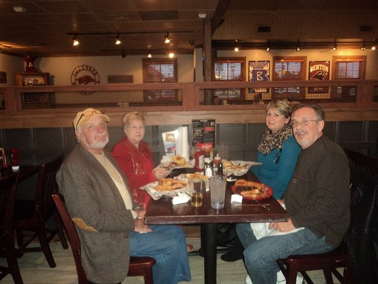 cliff & martha mcadoo [left side with freinds at the rib crib in benton ar.