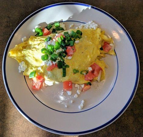 Upper Sandusky, Οχάιο: Goat Cheese Veggie Omelette