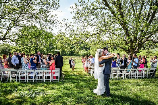 Albemarle, NC: A ceremony under towering pecan trees