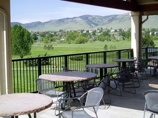 Niwot, CO: View of course from the deck
