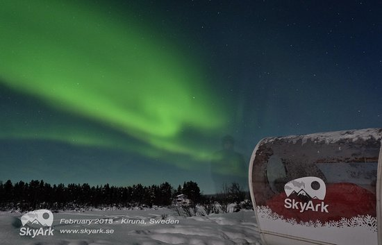 Kiruna, Suécia: Tour in a SkyArk under the northern lights
