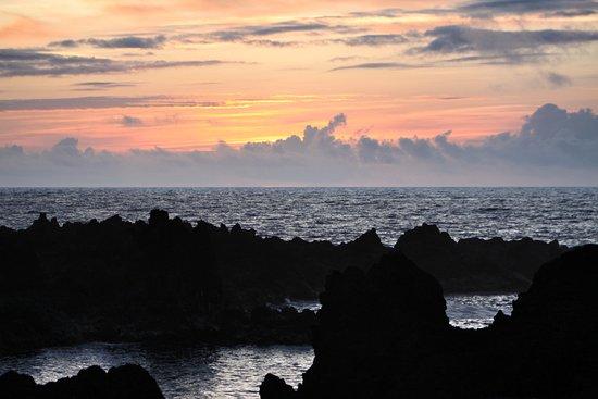 Faja Grande, Portugal: Ocean view at sunset