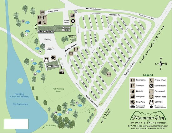 Pikeville, TN: Campground Map