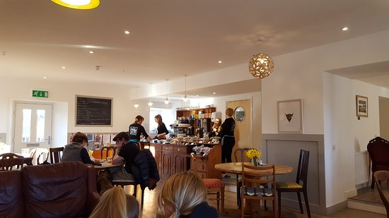 Nethy House in Nethy Bridge. Light and airy. Good coffee & cakes. Friendly staff