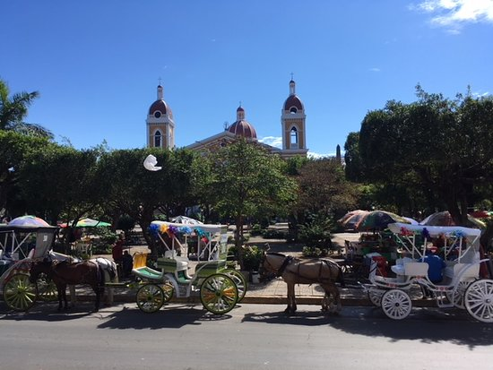 Granada, Nicaragua: My friend and I getting ready for carriage ride