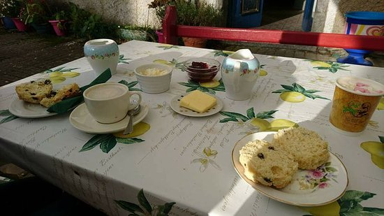 Coole, Ireland: Tea and scones