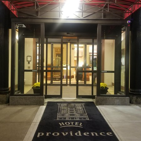 The main entrance to Hotel Providence
