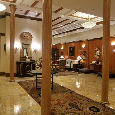 Hotel Providence: The foyer - full of period details!