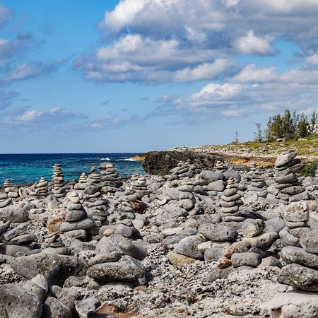 East End, Grand Cayman: Amazing view lined with Rock Piles. See more with ECO Rides Cayman.