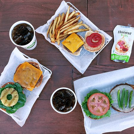 Burger Boss: We serve Honest Kids juice drinks with our kids meals