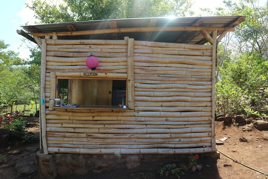 Santa Cruz, Nicaragua: Réception du Camping Lodge