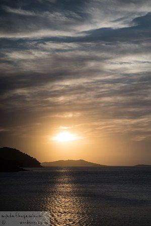 Zachód słońca w Ubli