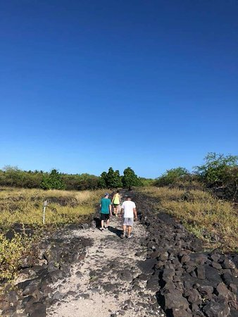 Honaunau, HI: A hot walk along an ancient path... no amenities, no trash receptacle. Take water!
