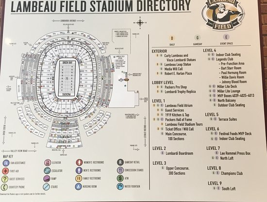 Lambeau Field Seating Map on sports authority field seating map, orange bowl seating map, nrg stadium seating map, great american ball park seating map, milwaukee mile seating map, fox cities performing arts center seating map, sun life stadium seating map, paul brown stadium seating map, levi's stadium seating map, fau stadium seating map, tdecu stadium seating map, university of phoenix stadium seating map, veterans stadium seating map, nippert stadium seating map, madison seating map, carolina panthers seating map, bmo harris pavilion seating map, legion field seating map, sanford stadium seating map, ralph wilson stadium seating map,