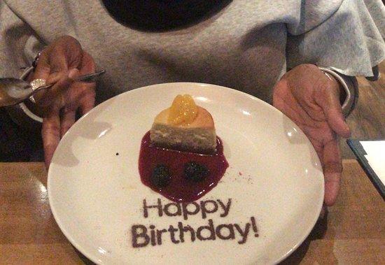 Moxie's Grill and Bar: birthday treat