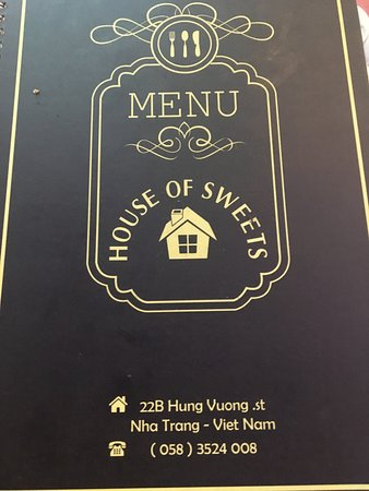 House of Sweets: The cover menu.. all I bothered to take so i could remember the place